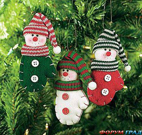 Как сделать новогодние украшение на елку своими