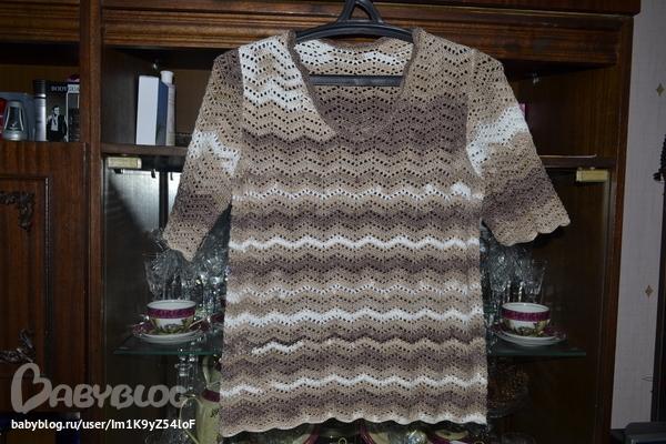 Блузка Из Пряжи Alize Романтика