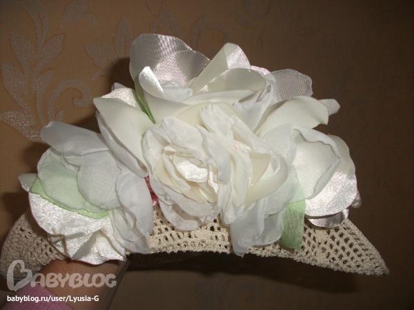 Цветы из ткани для шляпки