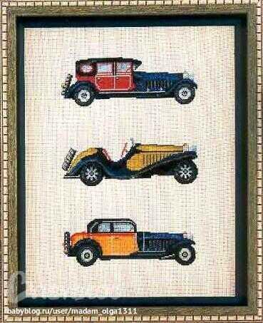 Описание: Схема для вышивки крестом - Ретро автомобили в формате xsd. бесплатно. схема. qwakusha.