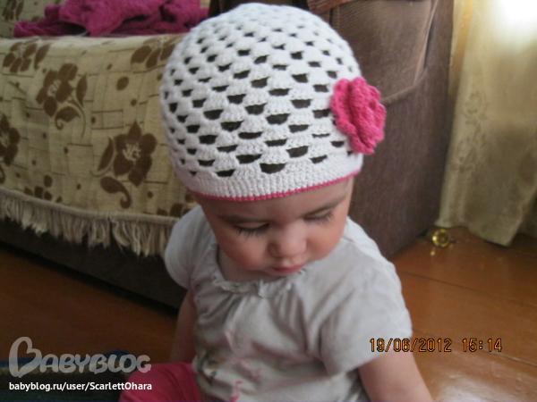 Связать детскую летнюю шапочку видео