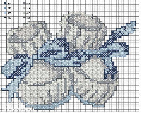 Схемы для вышивки крестом пинетки