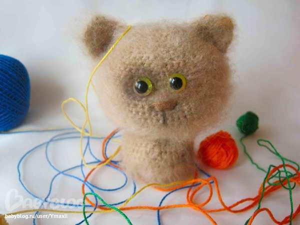 Игрушка для кота своими руками крючком