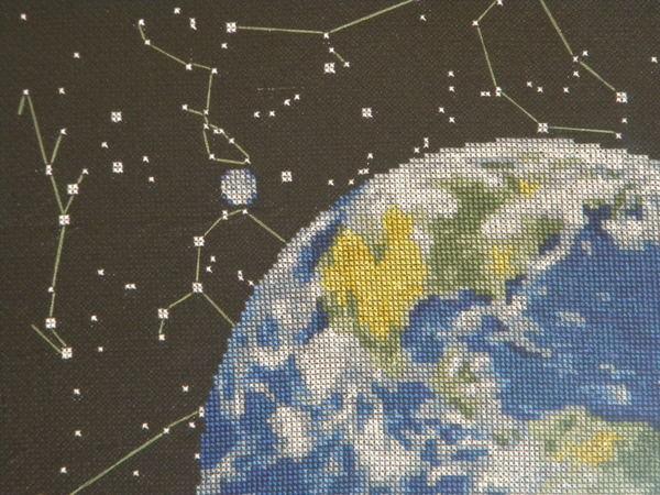 Вышивка крестом планета 73