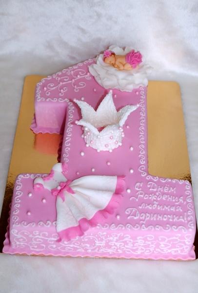 Торт на 1 годик девочке своими руками рецепты с без мастики на