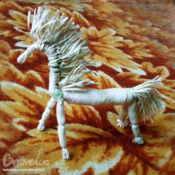 Лошадь из листьев поделка 18