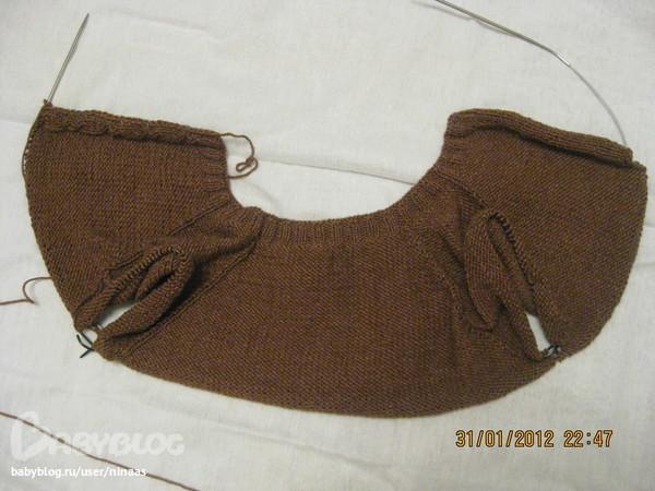 Я рукава вяжу на носочных