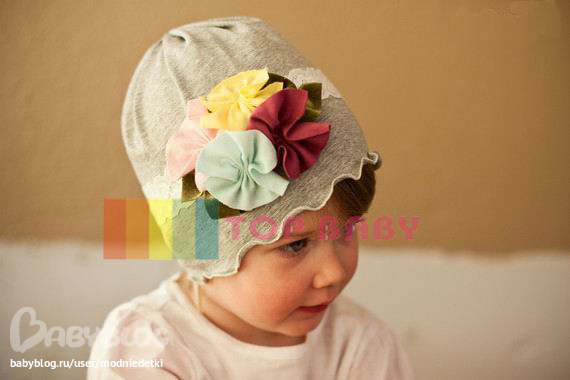 Цветок для детской шапочки своими руками