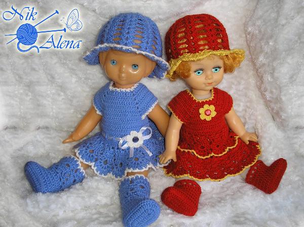 Вяжем крючком маленьким куклами 195