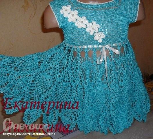 Вязание крючком платья для девочек мастер класс