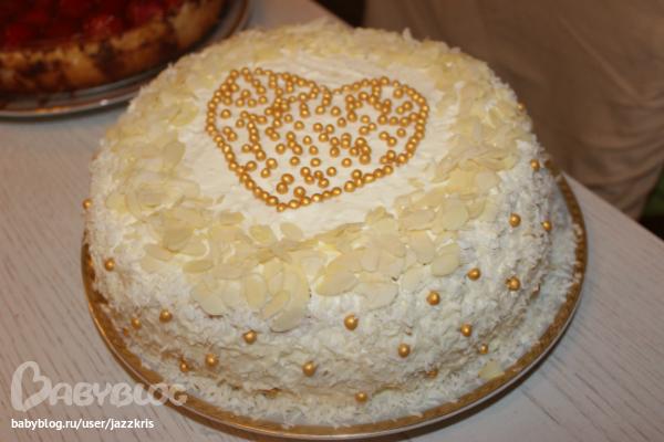 рецепт торт рафаэлло с аммонием