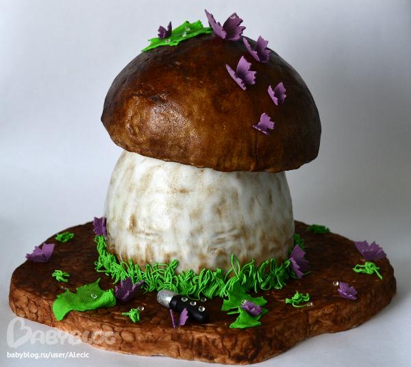 Как сделать грибы из мастики