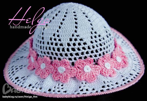 Цветы для шляпок крючком мастер класс