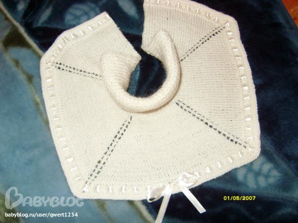Вязание для детей манишка с застежкой