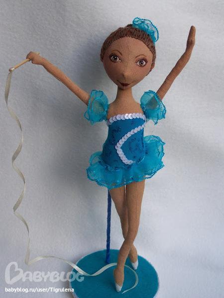 Кукла гимнастка своими руками 23