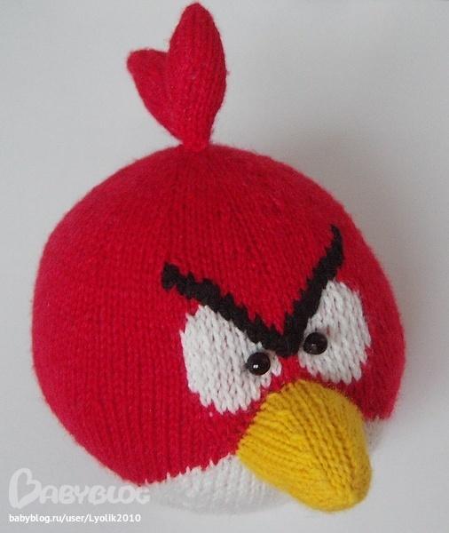 Игрушки злые птицы angry birds вязанные