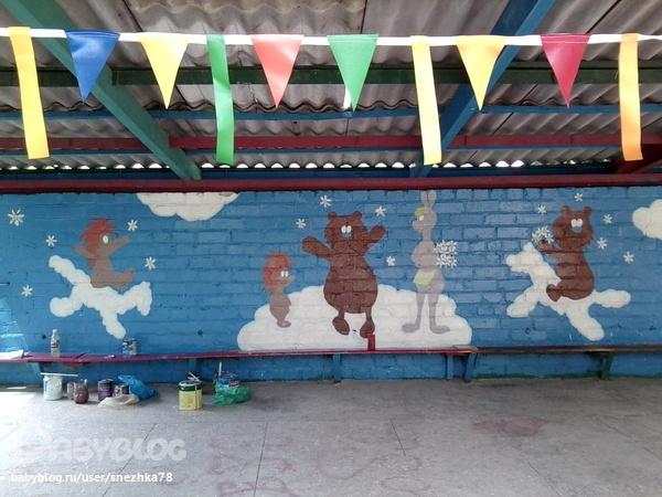 Как можно покрасить беседку в детском саду своими руками 45