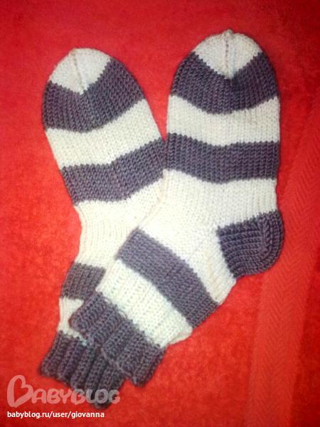 Детские носки шерстяные вязание