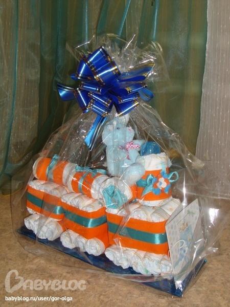 Подарки для новорожденных торты из