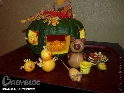 Осенние поделки из овощей своими руками в школу фото Raskroyprestij.ru