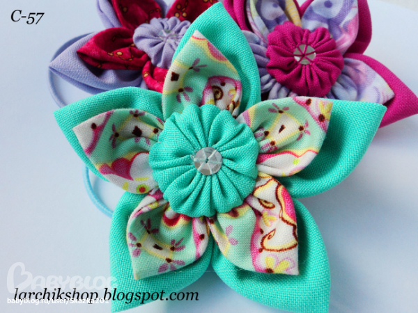 Резинки и заколки из ткани своими руками