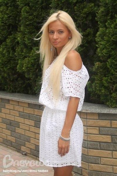 Белые Платья В Дырочку