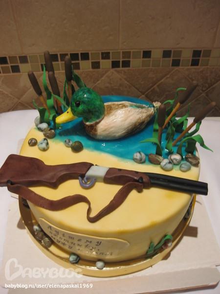 Торт с ружьем фото