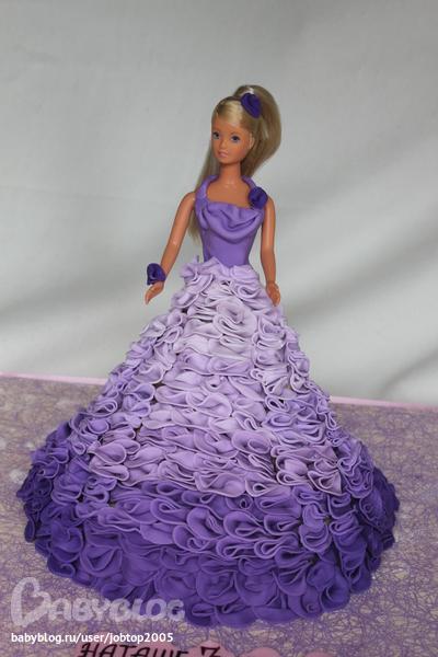 торт кукла барби фото из крема