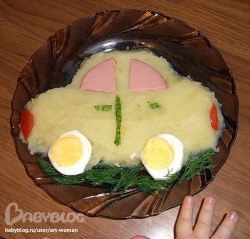 украшение детских блюд фото и рецепт