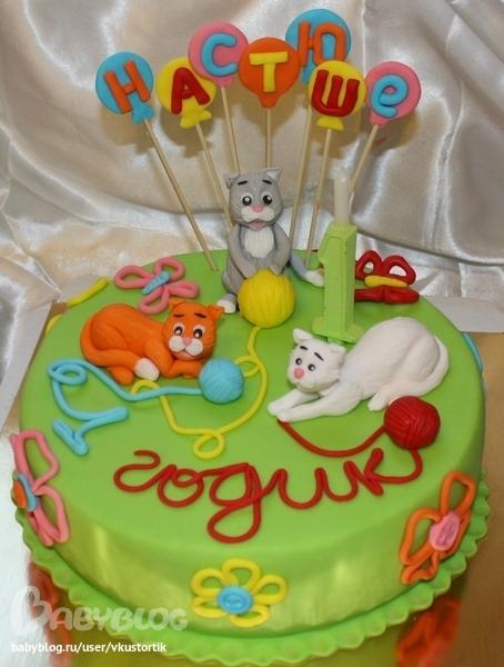 Детский торт фото котенок