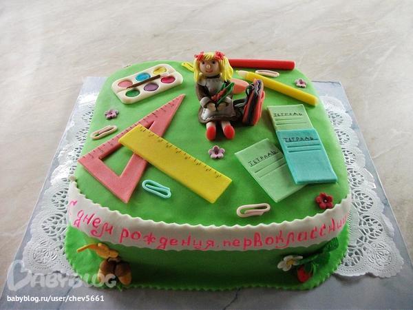 торт для первоклассницы фото