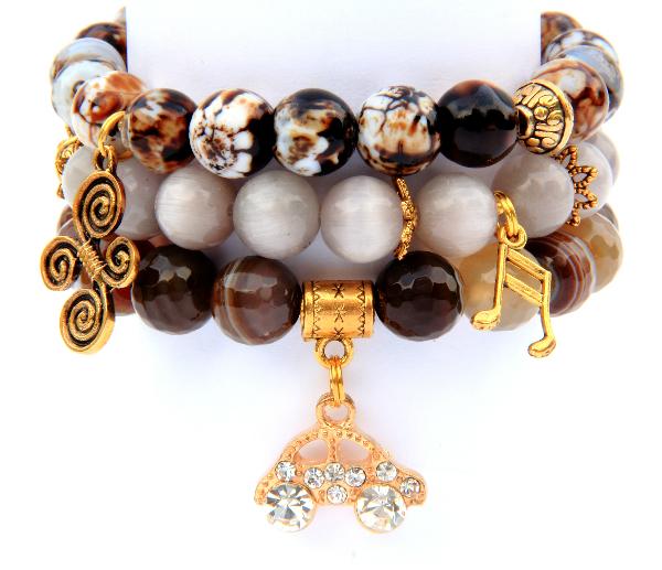 Бусы и браслеты из натуральных камней