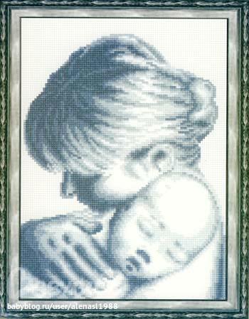мать и дитя 18х24 360р
