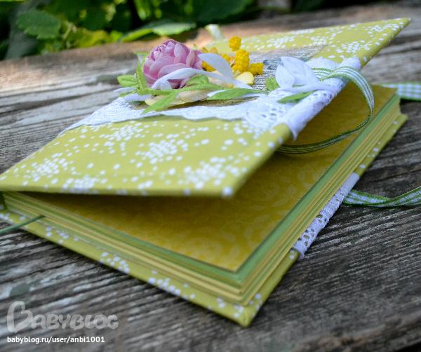 Зелёный блокнот своими руками 976