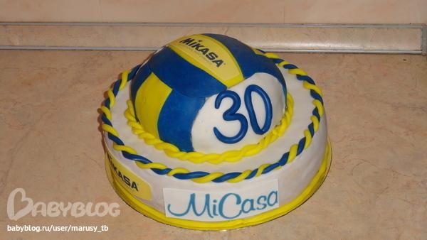 торт в виде волейбольного мяча фото