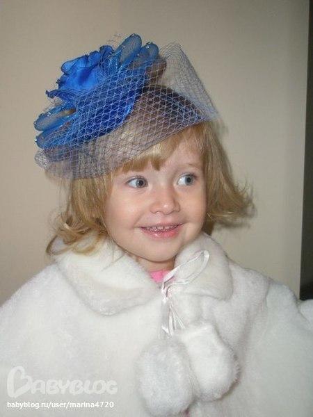 Ободок с вуалью для девочки своими руками