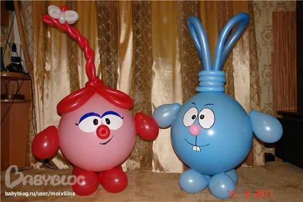 Как сделать смешариков из шаров своими руками